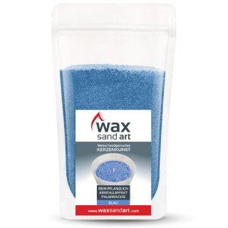 WaxSandArt 250 gram blue scented with iris - including 2...
