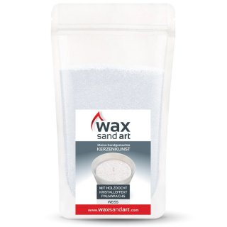 WaxSandArt 250 gram white scented with Ylang Ylang -...